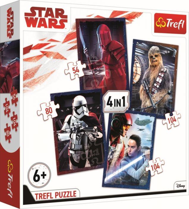 Puzzle 4 in 1 Pregatit de lupta Star Wars Trefl, 342 piese, 6 ani+