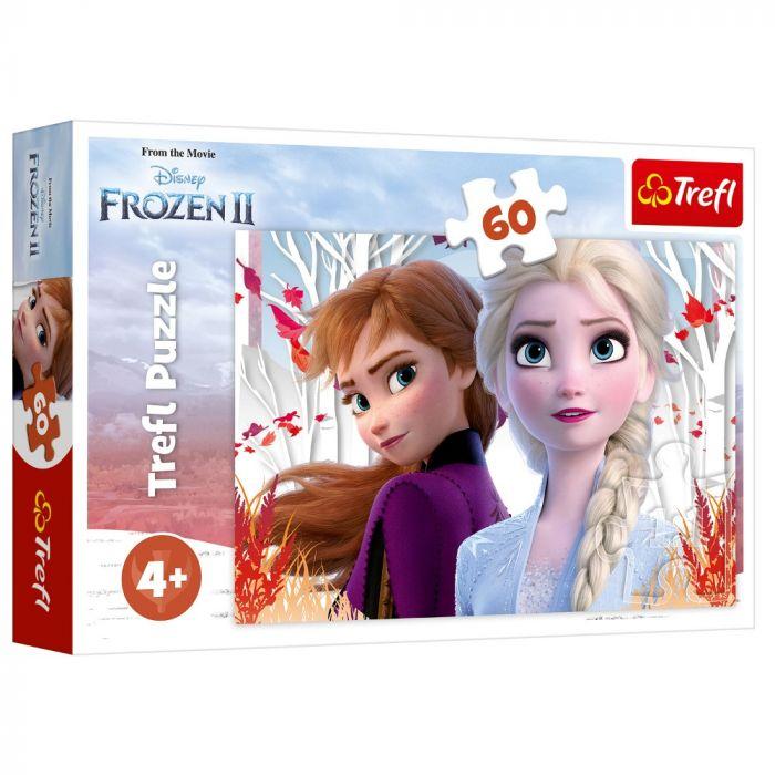 Puzzle Ana si Elsa Frozen 2 Trefl, 60 piese, 4 ani+