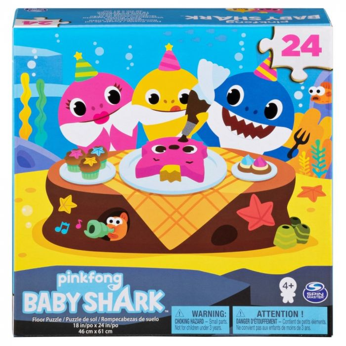 Puzzle Baby Shark Spin Master, 24 piese, 4 ani+