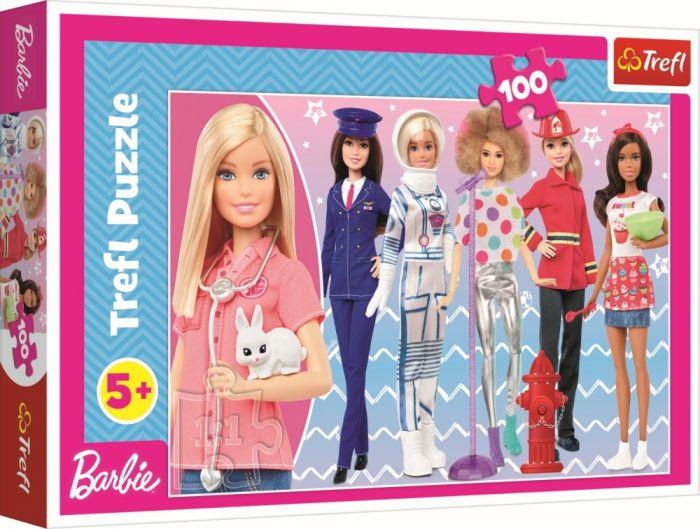 Puzzle Barbie poti fi ce vrei Trefl, 100 piese, 5 ani+
