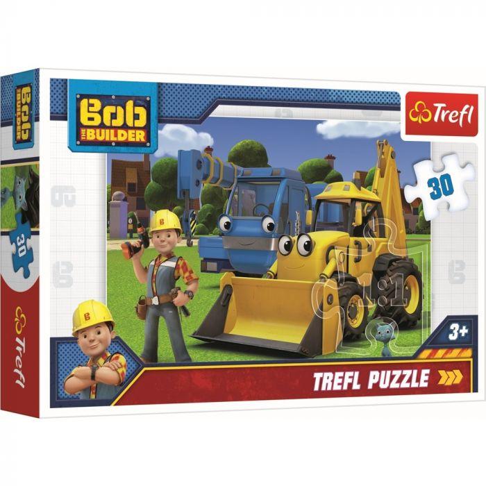 Puzzle Bob Constructorul Trefl, 30 piese, 3 ani+