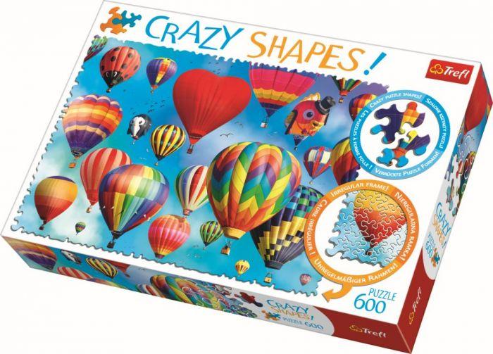 Puzzle cu piese ciudate Baloane colorate Trefl, 600 piese, 14 ani+