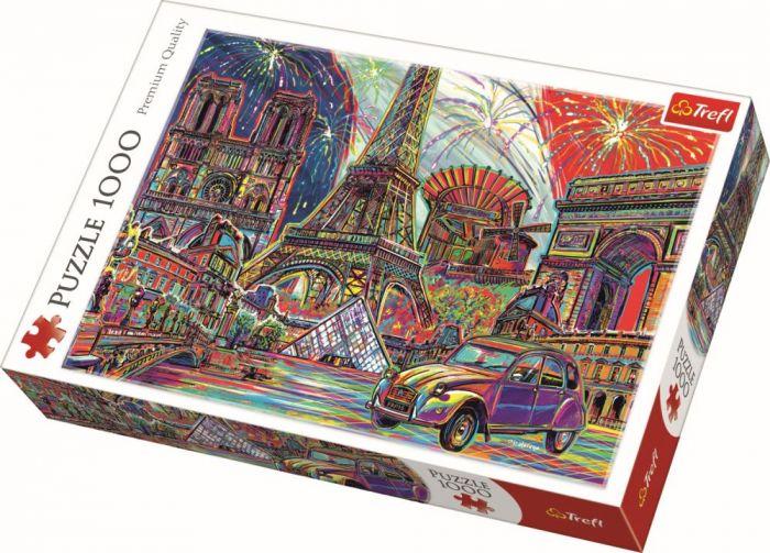 Puzzle Culorile Parisului Trefl, 1000 piese, 14 ani+
