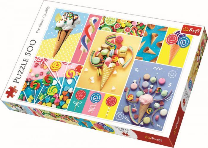 Puzzle Dulciuri delicioase Trefl, 500 piese, 12 ani+