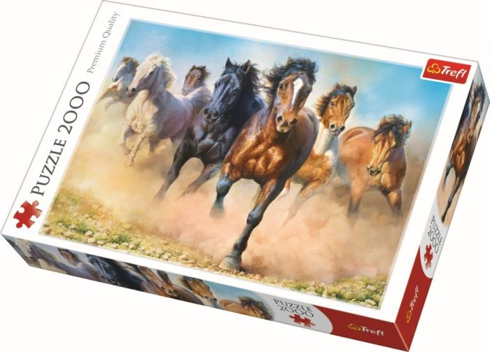 Puzzle Herghelie de cai galopand Trefl, 2000 piese, 15 ani+