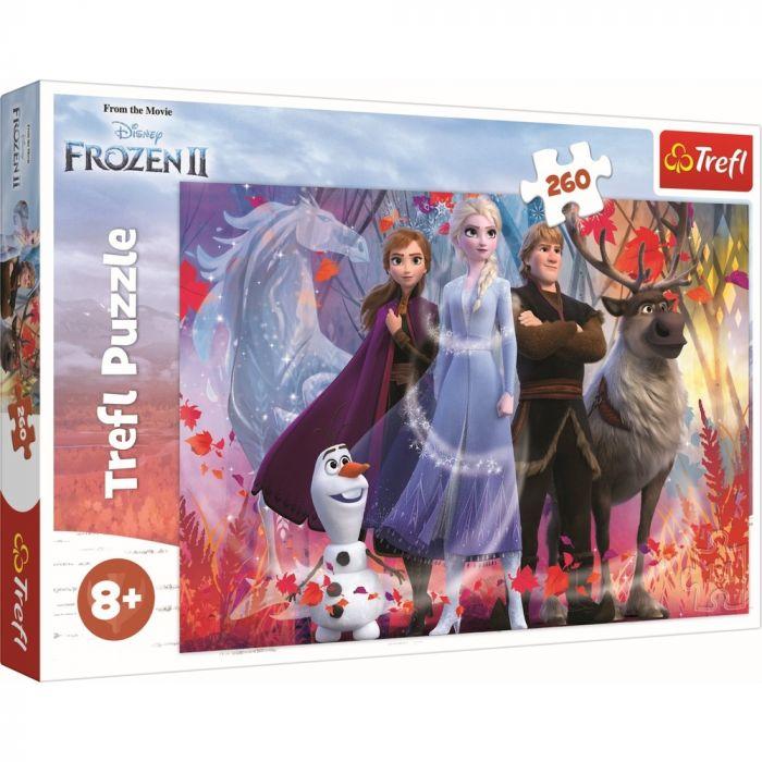Puzzle In cautarea aventurilor Frozen 2 Trefl, 260 piese, 8 ani+