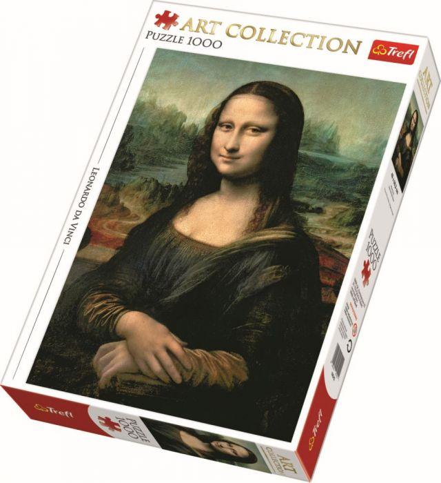 Puzzle Mona Lisa Trefl, 1000 piese, 14 ani+