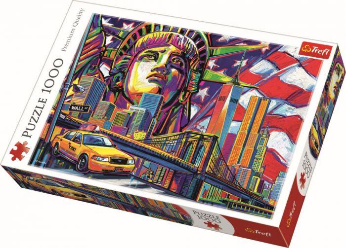 Puzzle New York in culori Trefl, 1000 piese, 14 ani+