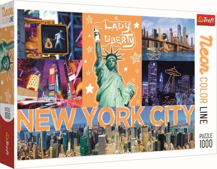 Puzzle New York neon Trefl, 1000 piese, 14 ani+