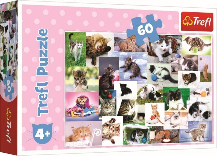Puzzle O lume a pisicilor Trefl, 60 piese, 4 ani+
