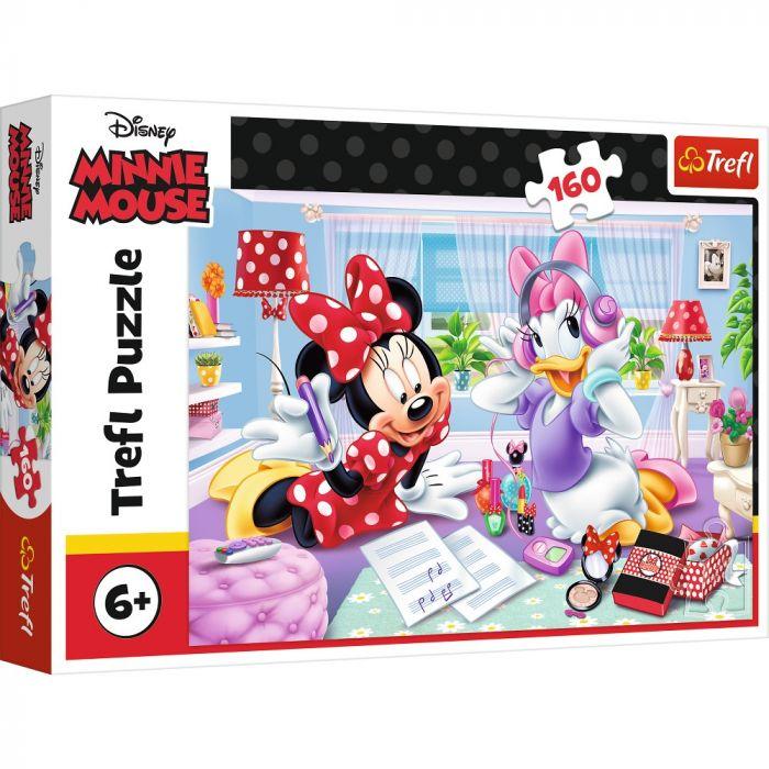 Puzzle O zi cu Minnie si Daisy Trefl, 160 piese, 6 ani+