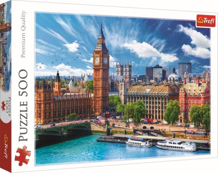 Puzzle O zi cu soare la Londra Trefl, 500 piese, 12 ani+