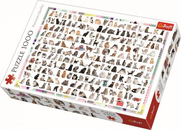 Puzzle Pisici 208 la numar Trefl, 1000 piese, 14 ani+