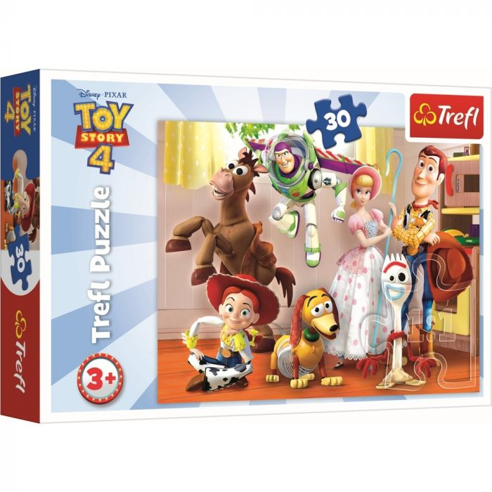 Puzzle Pregatiti de joaca Toy Story 4 Trefl, 30 piese, 3 ani+