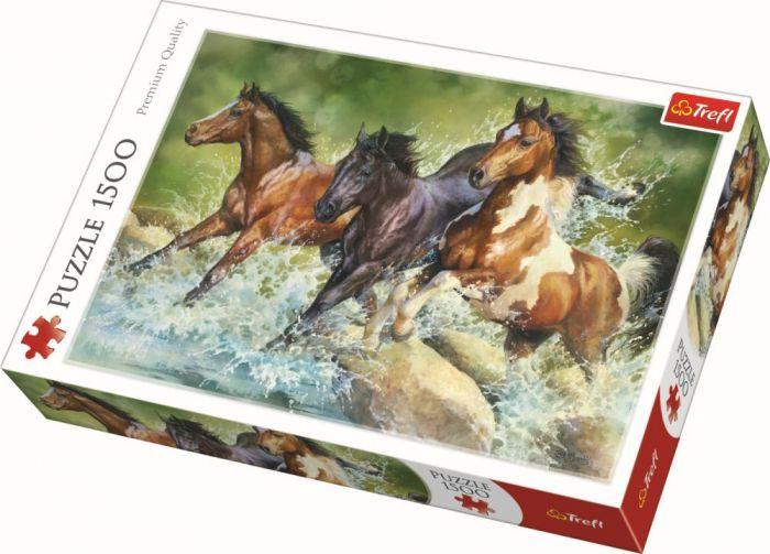 Puzzle Trei cai salbatici Trefl, 1500 piese, 15 ani+