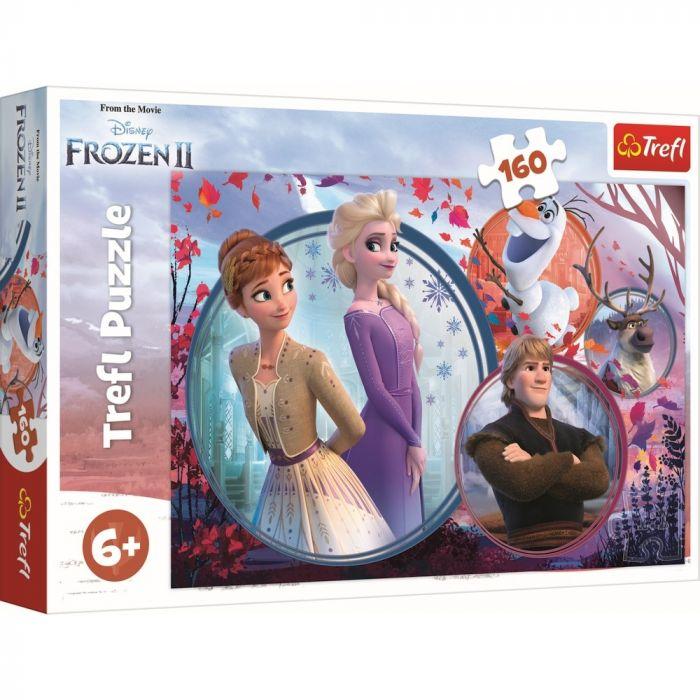 Puzzle Universul Frozen 2 Trefl, 160 piese, 6 ani+