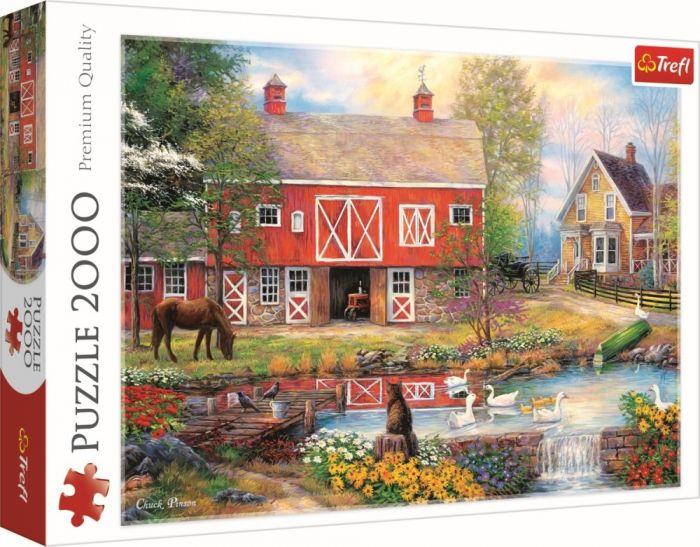 Puzzle Viata la tara Trefl, 2000 piese, 15 ani+