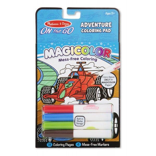 Carnet Magicolor Jocuri si aventuri Melissa & Doug, 3 ani+