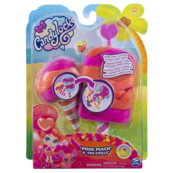 Figurine Candy Locks Posie Peach Spin Master, misterioase si parfumate, 4 ani+