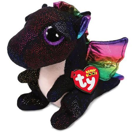 Plus, Boos Anora Dragon Negru TY, 15 cm, 3 ani+