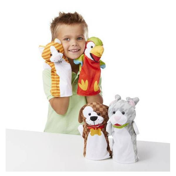Set 4 marionete Animale de companie Mellisa & Doug, 24 luni+