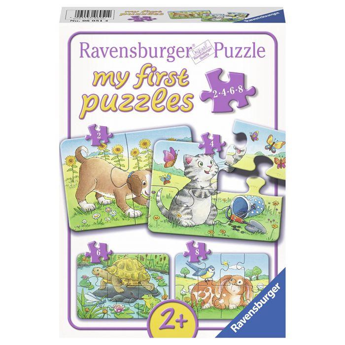 Primul puzzle cu animale 2/4/6/8 piese Ravensburger