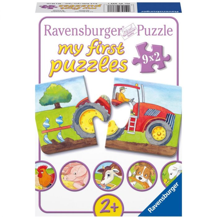Puzzle animale ferma 9 x 2 piese Ravensburger