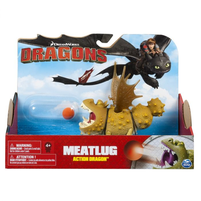 Figurina Dragon in actiune Meatlug Spin Master, 4 ani+