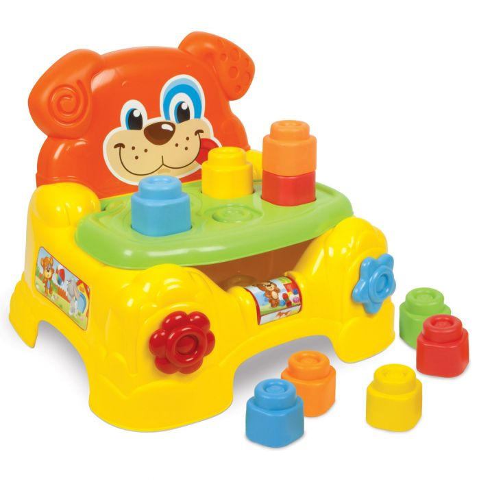 centru joaca scaun catel cuburi moi clemmy