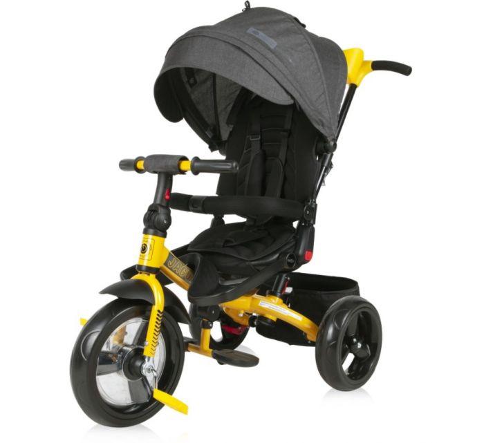 Tricicleta Jaguar Eva Wheels Lorelli Black & Yellow, 12 luni+, Galben