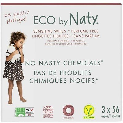 Servetele umede fara parfum Sensitive 3 x 56 buc ECO by Naty