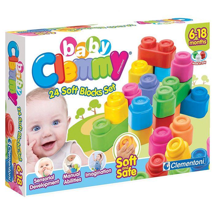 set 24 cuburi moi clemmy bebelus