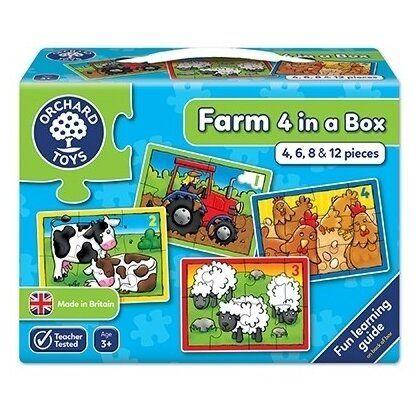 Set 4 Puzzle La Ferma Orchard, 36 luni+