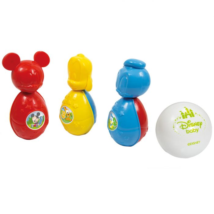 set bowling disney mickey mouse donald duck pluto clementoni CL17096