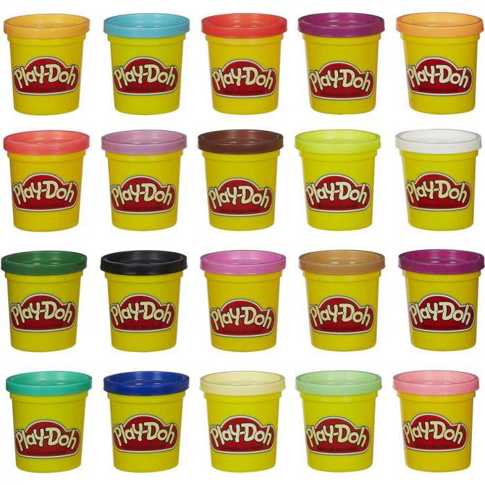 Pachet Culorile curcubeului 20 cutii Play-Doh PK-HSA7924