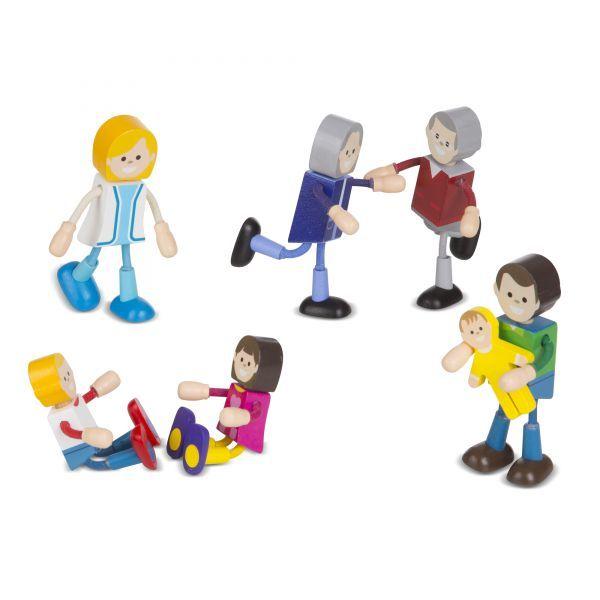 Figurine flexibile Meserii Melissa & Doug, din lemn, 3 ani+