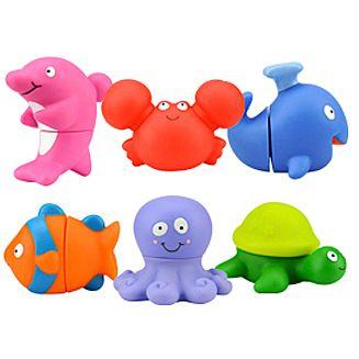 set forme animale marine plastic multicolor