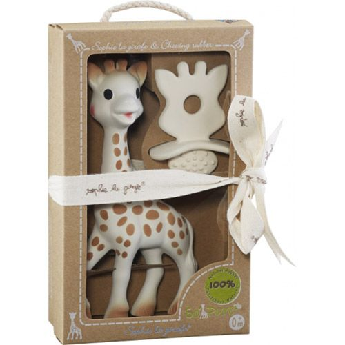 Set girafa Sophie so pure si cauciuc dentitie Vulli