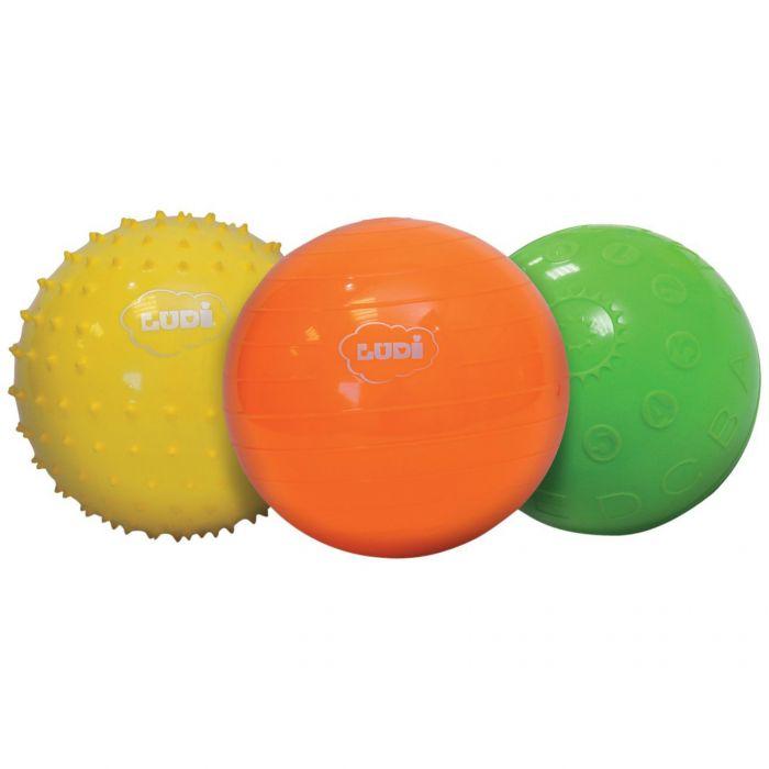 Set mingi senzoriale LUDI multicolor cauciuc