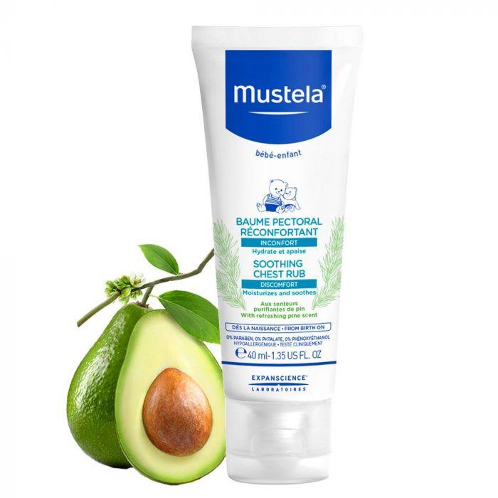 Balsam reconfortant Mustela, pentru masaj pectoral, 40 ml