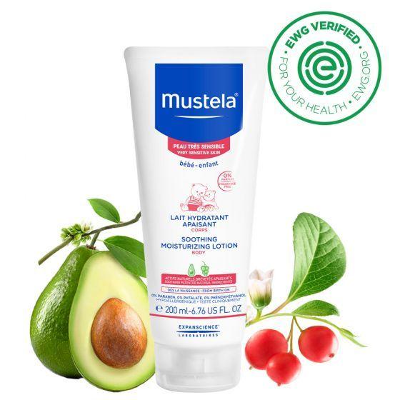 Lapte hidratant calmant corp Mustela, piele sensibila, 200 ml