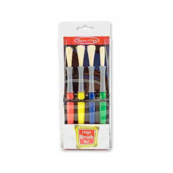 Set pensule groase Melissa & Doug, 4 buc, 3 ani+