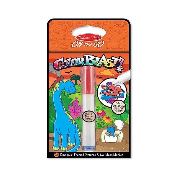 Caiet activitati cu dinozauri Colorblast Melissa & Doug, 3 ani+