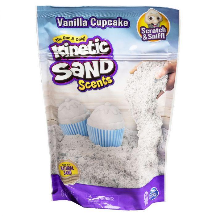 Nisip Kinetic Sand Spin Master, parfumat vanilie, 3 ani+