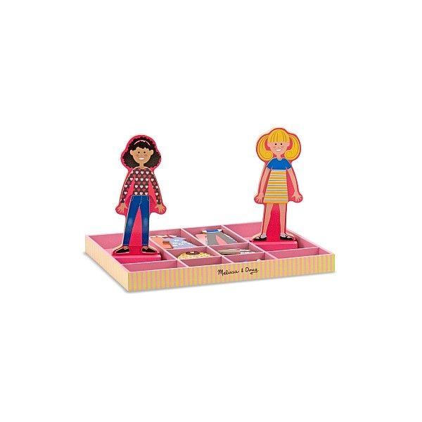 Joc Imbraca-le pe Abby si Ema Melissa & Doug, din lemn, 3 ani+