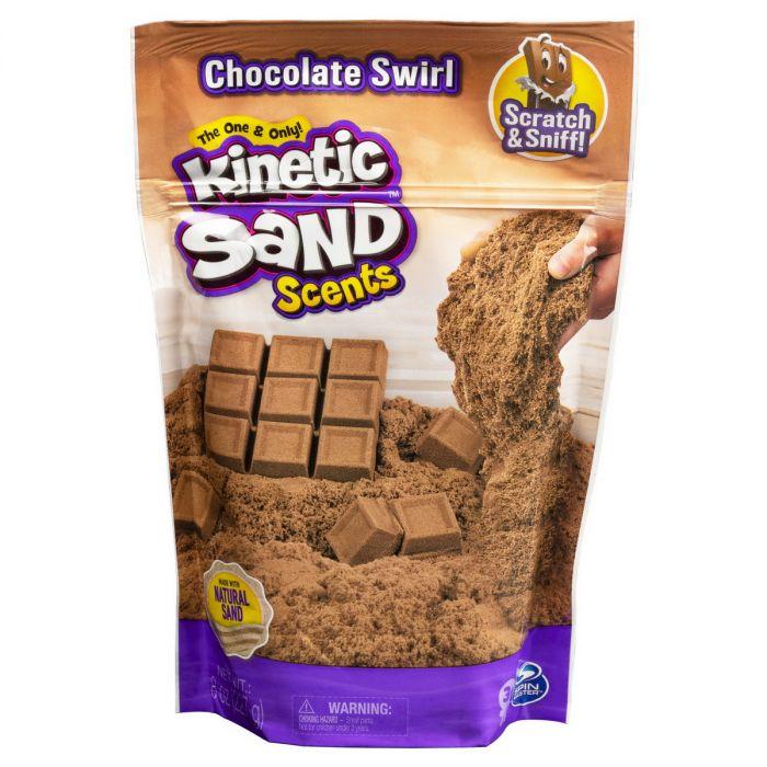 Nisip Kinetic Sand, parfumat ciocolata, 3 ani+