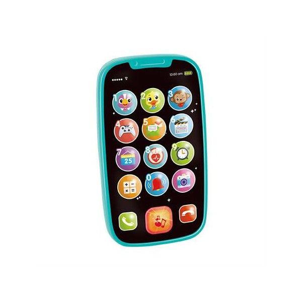 Primul meu Telefon Smart Hola, cu muzica si lumini, 5 luni+, Albastru