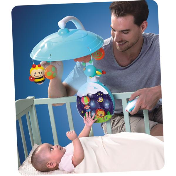 Carusel muzical pentru copii cu telecomanda Hola Toys